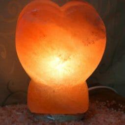 Crafted Himalayan Heart Salt Lamp   Himalayan Salt Factory