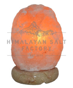 2-3kg Natural Shaped Himalayan Salt Lamp Marble Base | Himalayan Salt Factory