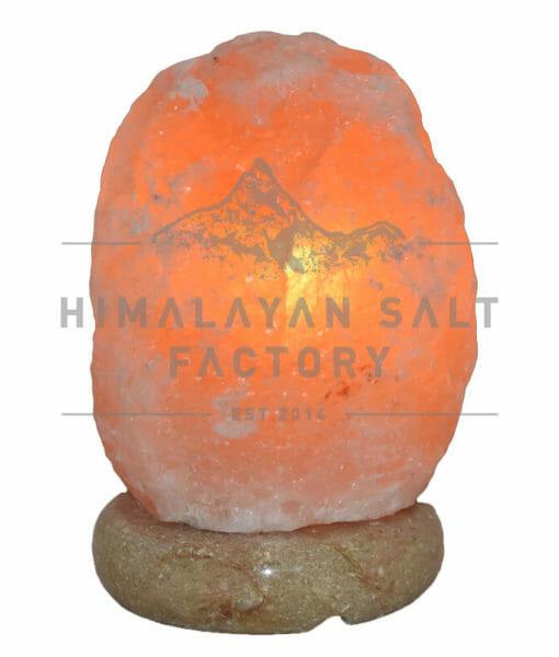 2-3kg Natural Shaped Himalayan Salt Lamp Marble Base | Himalayan Salt Factory