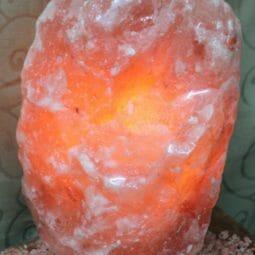12-15kg Natural Shaped Himalayan Salt Lamp Marble Base | Himalayan Salt Factory