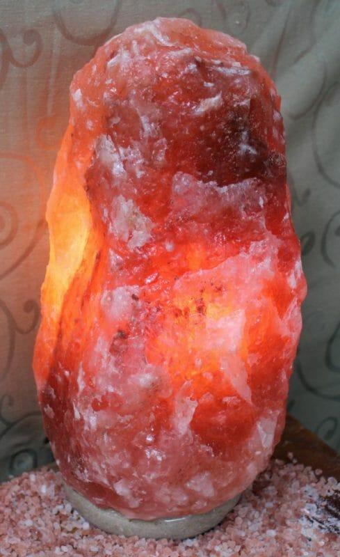 15-20kg Natural Shaped Himalayan Salt Lamp Marble Base   Himalayan Salt Factory