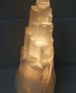 Selenite Tower Lamp 30cm | Himalayan Salt Factory