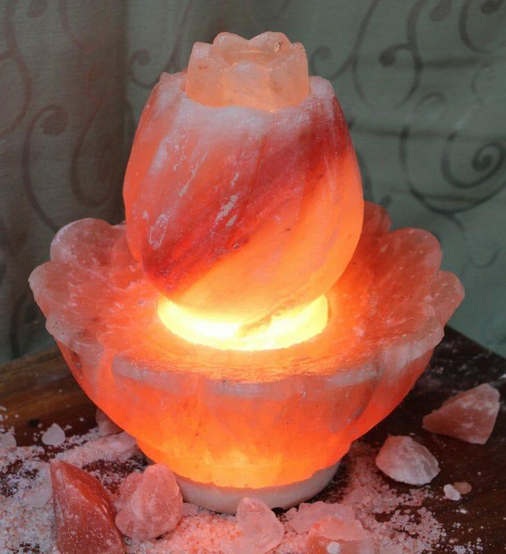 Lotus Salt Lamp Large Himalayan Salt Factory