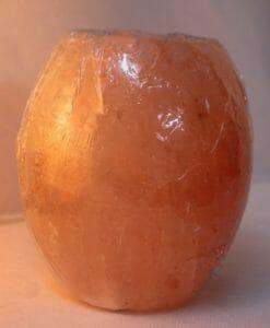 Himalayan Salt Pear Shaped Tealight Candle Holder | Himalayan Salt Factory