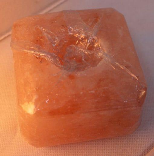 Himalayan Salt Cube Shaped Tealight Candle Holder | Himalayan Salt Factory