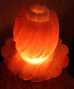 Himalayan Salt Lotus Lamp Large   Himalayan Salt Factory