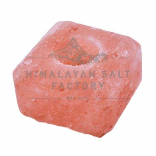Cube Shaped Tealight Candle Holder | Himalayan Salt Factory
