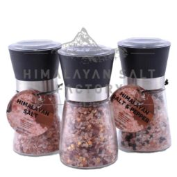 Himalayan Salt, Chilli and Pepper Pack (Glass Grinders)