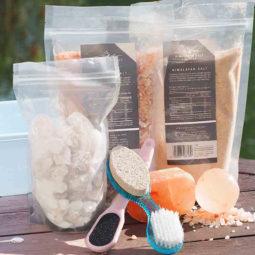 Himalayan Salt Foot Spa Pack With White Chunks | Himalayan Salt Factory