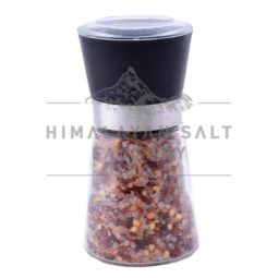 Himalayan Salt and Chilli Glass Grinder (Refillable) | Himalayan Salt Factory