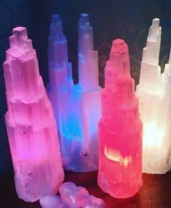 Selenite Tower Lamp 40cm (Bulk 10 pack) | Himalayan Salt Factory