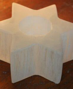 Star Selenite Tealight Candle Holder | Himalayan Salt Factory