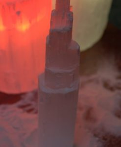 Selenite Tower 20cm | Himalayan Salt Factory