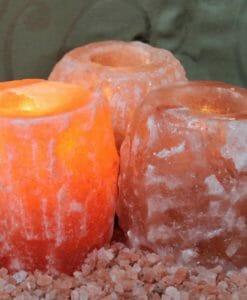 Himalayan Salt Tealight Candle Holder Pack | Himalayan Salt Factory