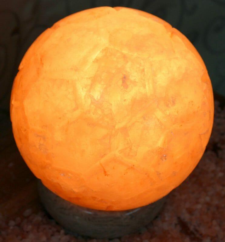 Himalayan Salt Lamp With Healing Balls : Soccer Ball Salt Lamp Himalayan Salt Factory