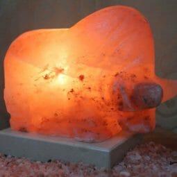 Crafted Himalayan Bull Salt Lamp   Himalayan Salt Factory