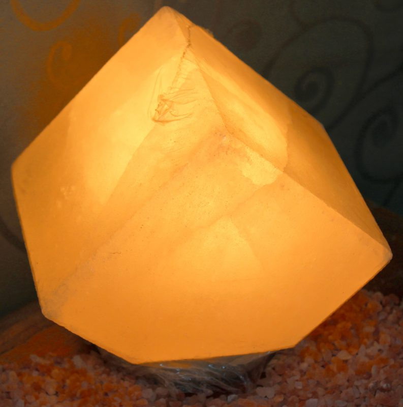 Himalayan Salt Lamps White : White Pentagon Salt Lamp Himalayan Salt Factory