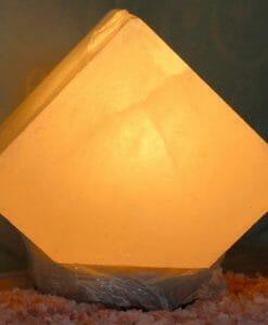 Himalayan White Pentagon Salt Lamp   Himalayan Salt Factory