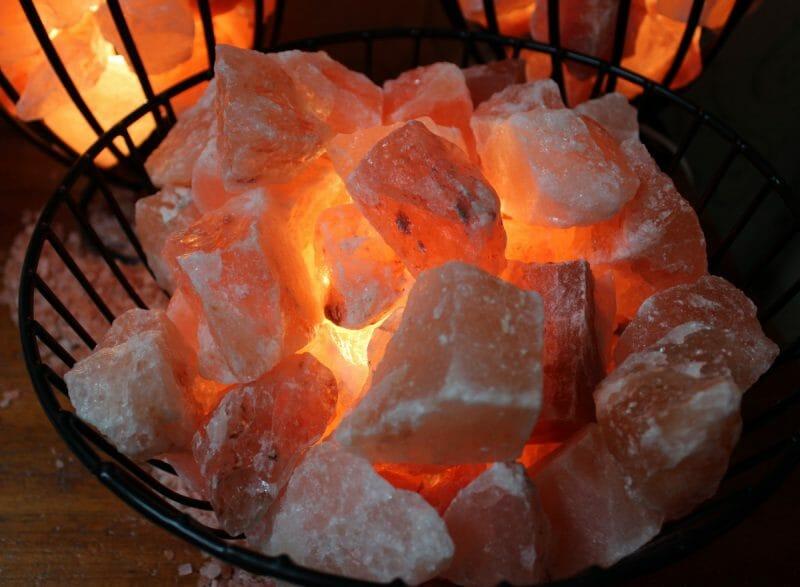 Salt Lamps Healing Properties : Fire Cage with Salt Chunks (Large) Himalayan Salt Factory