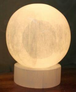 Crafted Selenite Sphere Lamp | Himalayan Salt Factory