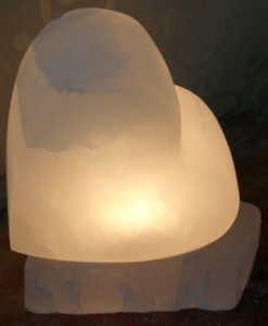 Crafted Selenite Heart Lamp | Himalayan Salt Factory