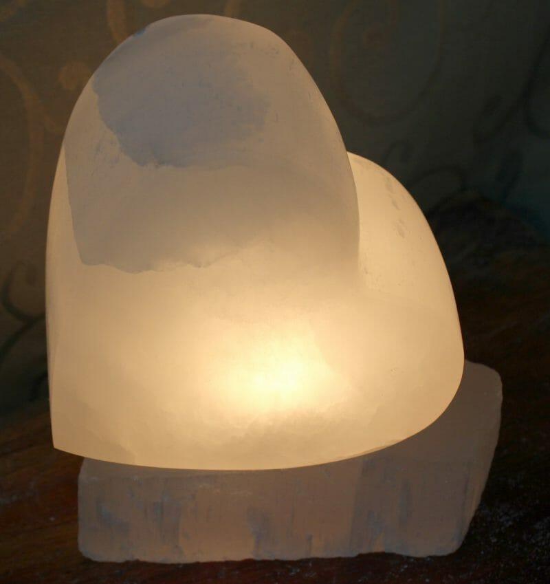 Selenite Heart Lamp Himalayan Salt Factory