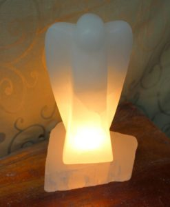 Crafted Selenite Angel Lamp | Himalayan Salt Factory