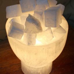 Selenite Firebowl Lamp | Himalayan Salt Factory