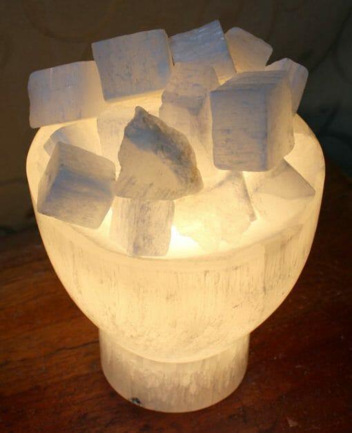 Selenite Firebowl Lamp | Himalayan Salt Factory