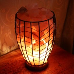 Tall Fire Cage (Wooden Base) | Himalayan Salt Factory