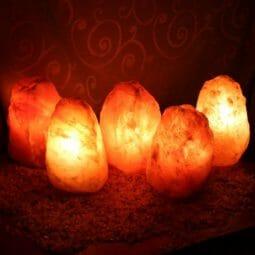 5x 2-3kg Himalayan Salt Lamp Pack (3 legs-No Base) | Himalayan Salt Factory