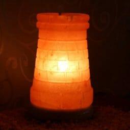 Crafted Himalayan Castle Turret Salt Lamp | Himalayan Salt Factory