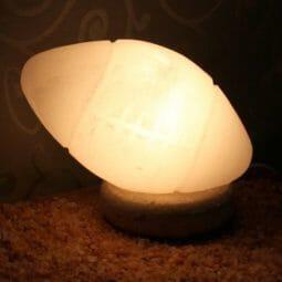 Crafted White Football Salt Lamp   Himalayan Salt Factory