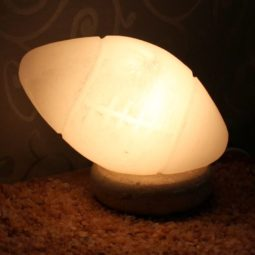 Crafted White Football Salt Lamp | Himalayan Salt Factory