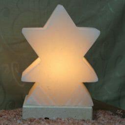 Crafted White Star Salt Lamp | Himalayan Salt Factory