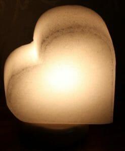 White Heart Salt Lamp   Himalayan Salt Factory