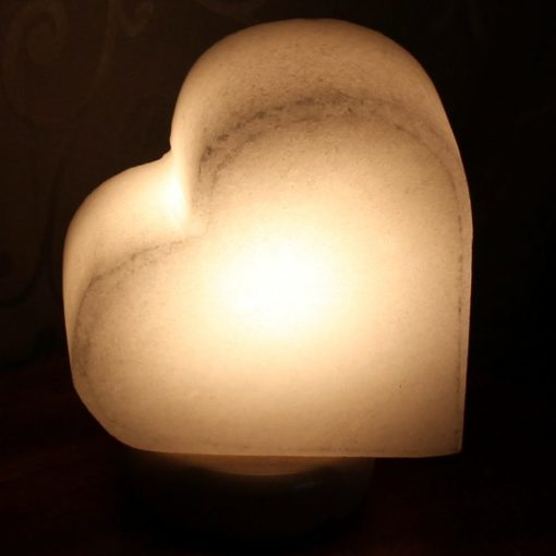 White Heart Salt Lamp | Himalayan Salt Factory
