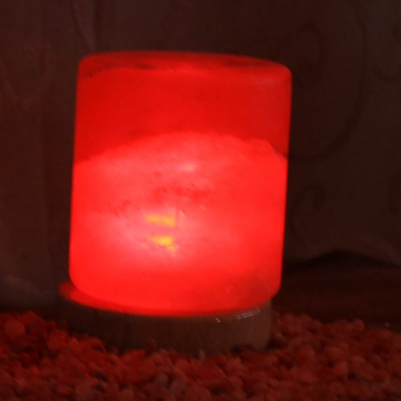 Do Salt Lamps Work With Led : USB Cylinder Salt Lamp Himalayan Salt Factory