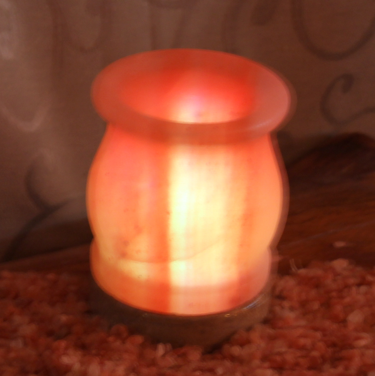 Do Salt Lamps Work With Led : USB Vase Salt Lamp Himalayan Salt Factory