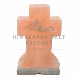 Crafted Himalayan Cross Salt Lamp | Himalayan Salt Lamp