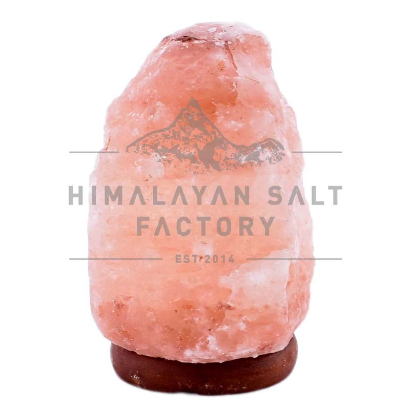 2-3kg Natural Shaped Himalayan Salt Lamp Timber Base | Himalayan Salt Factory