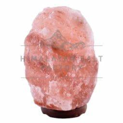 7-9kg Natural Shaped Himalayan Salt Lamp Timber Base | Himalayan Salt Factory