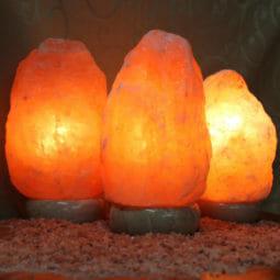 3 X 2-3kg Himalayan Salt Lamp Pack (Marble Base) | Himalayan Salt Factory