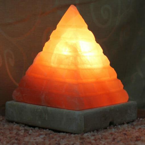 Crafted Himalayan Pyramid Brick Salt Lamp | Himalayan Salt Factory
