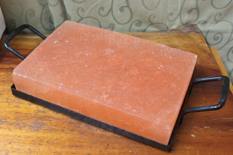 how to break up himalayan salt block
