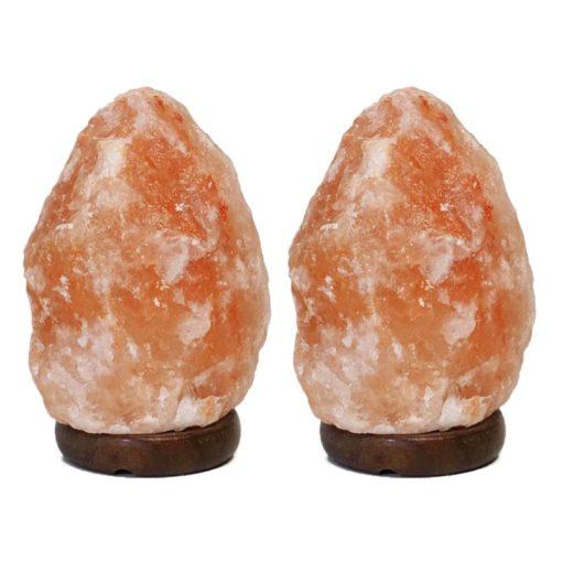 2x 2-3kg Himalayan Salt Lamp - Timble Base (12V)   Himalayan Salt Factory