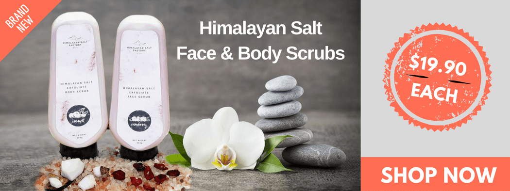 Himalayan Salt Face & Body Scrub Banner