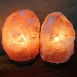 2 X 2-3kg Himalayan Salt Lamp Pack (Timber Base) | Himalayan Salt Factory