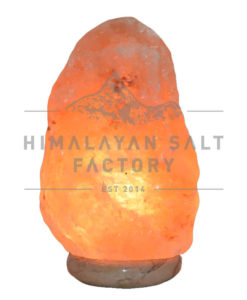 5-7kg Natural Shaped Himalayan Salt Lamp Marble Base | Himalayan Salt Factory