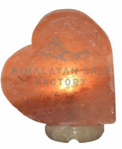 Crafted Himalayan Heart Sideways Salt Lamp   Himalayan Salt Factory